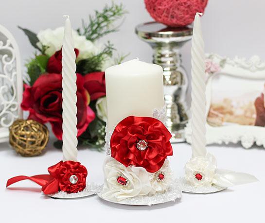 """Домашний очаг + 2 свечи """"Марокканские розы"""" (красный)"""