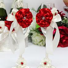 Свадебные бокалы Марокканские розы