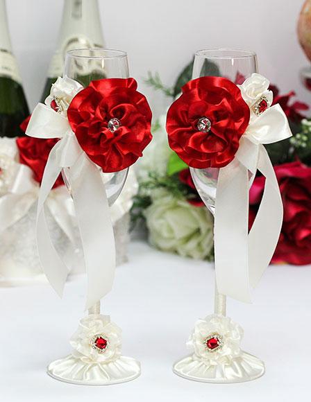 """Свадебные бокалы """"Марокканские розы"""""""