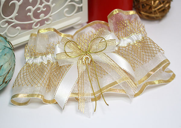 """Подвязка для невесты """"Золотая подкова"""""""