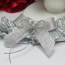 """Подвязка для невесты """"Серебряная мечта"""""""
