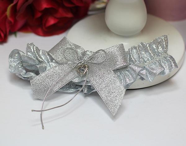 """Подвязка для невесты """"Серебряная мечта"""" (серебряный)"""