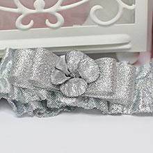 Подвязка для невесты Серебряная мечта №2