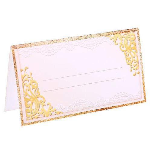 """Банкетная карточка """"Золотой узор"""""""