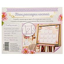 Набор для рассадки гостей (план рассадки + карточки с номерами)