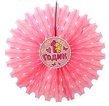 """Украшение из бумаги """"1 годик"""", розовый"""