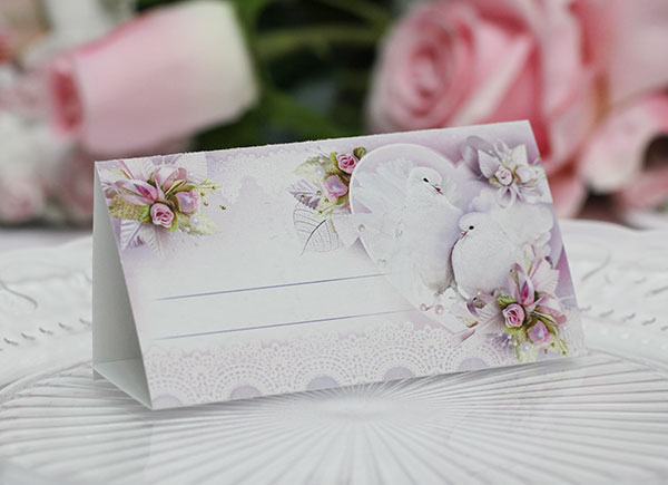 """Рассадочная карточка на свадьбу """"Чудесные голуби"""""""