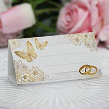 """Рассадочные карточки для гостей """"Бабочки в саду"""""""