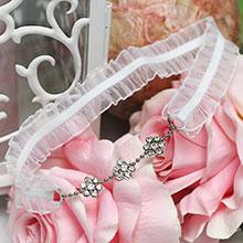 """Подвязка для невесты """"Сияние серебра"""""""