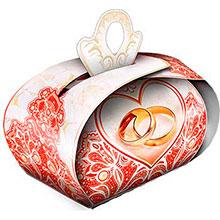 """Бонбоньерка для подарков """"Красный бархат"""""""