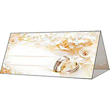"""Банкетная карточка свадебная """"Золотые кольца"""""""