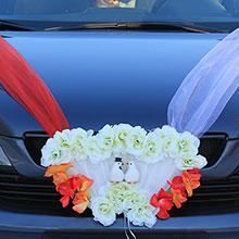 """Свадебная лента на машину """"Голуби любви"""""""