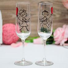 """Свадебные бокалы """"Это любовь"""""""