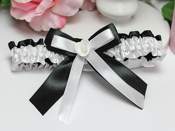 Подвязка для невесты София (черный)