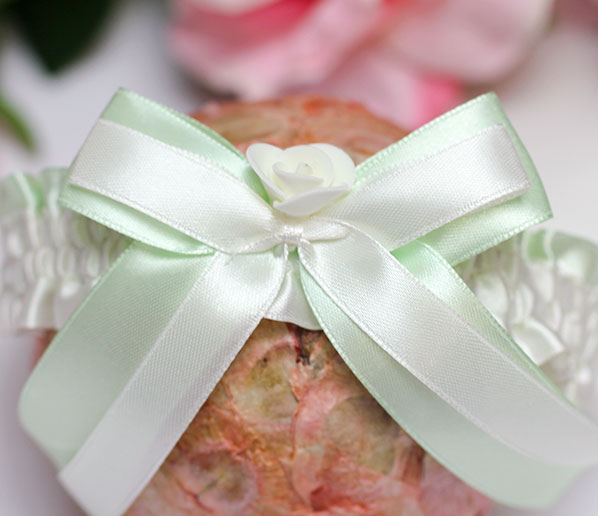 Подвязка для невесты София (мятный)