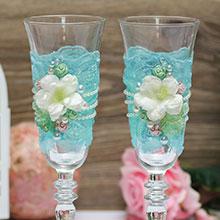 """Свадебные бокалы """"Цветочное настроение"""""""