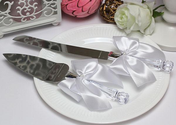 """Сервировочный набор для торта """"Paradise"""" (белый)"""