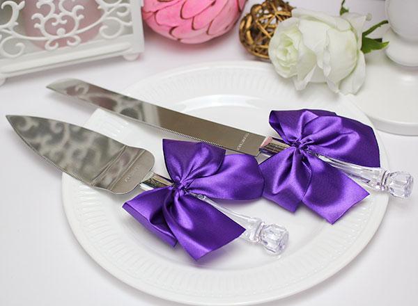 Сервировочный набор для торта Paradise (фиолетовый)