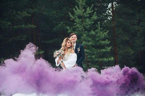 Цветной дым для фотосессии (фиолетовый)