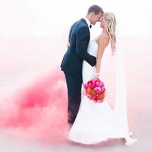 Цветной дым для фотосессии (розовый)