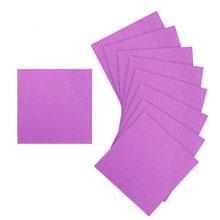 Упаковка однотонных салфеток (лиловый, 20 шт, 25х25 см)