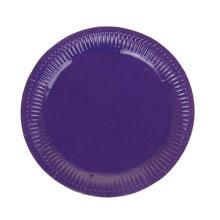 Набор бумажных однотонных тарелок (6 шт, 23 см, фиолетовые)