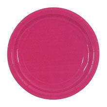 Набор бумажных однотонных тарелок (10 шт, 18 см, розовые)