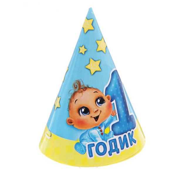 """Набор колпачков """"1 годик мальчику"""" (6 шт)"""