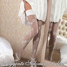 Чулки на свадьбу Charmante SALOMEA (L/XL, шампань, 40 den)