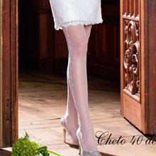 Свадебные колготки Charmante CHETO (M/L, белый, 20 den)