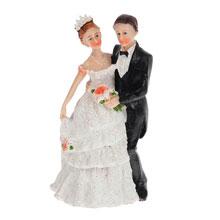 """Фигурка для торта на свадьбу """"Молодожены"""" (15 см)"""