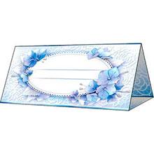 """Банкетная карточка универсальная """"Синие цветы"""""""