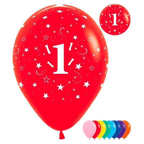 """Набор воздушных шаров """"Цифра 1"""" (25 шт)"""