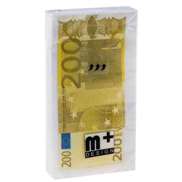 """Бумажные носовые платочки """"200 евро"""""""