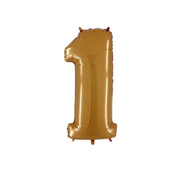 """Воздушный шар """"Цифра 1"""" (золотой; 100 см)"""