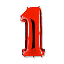 """Воздушный шар """"Цифра 1"""" (красный; 100 см)"""