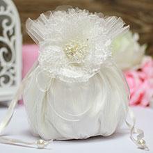 """Свадебная сумочка для невесты """"Любовные сети"""" (айвори)"""