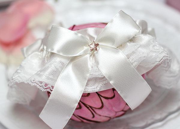 """Подвязка для невесты """"Звездочка"""" (айвори)"""