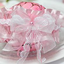 """Подвязка для невесты """"Венера"""" (розовая)"""