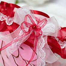 Подвязка для невесты Венера (красная)