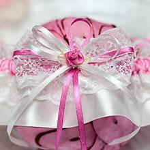 """Свадебная подвязка """"Розовый бутон"""""""