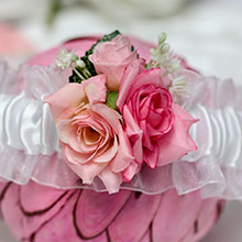 Подвязка свадебная Весна (белая)