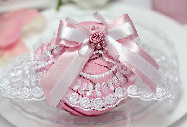 """Свадебная подвязка """"Варенька"""" (розовый)"""