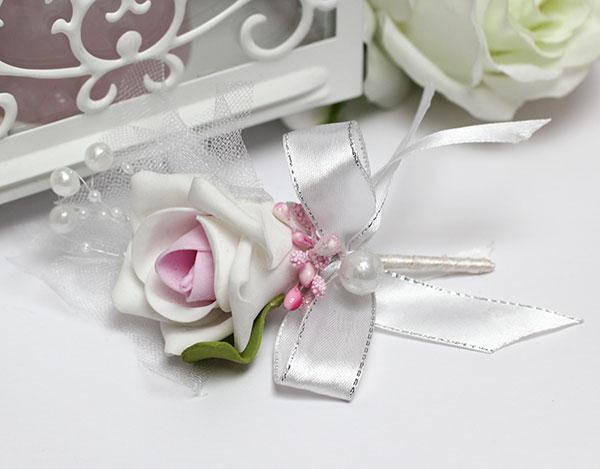 """Бутоньерка для жениха """"Роман"""" (розовый)"""