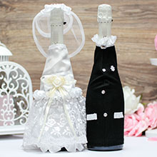Наряды жениха и невесты на шампанское