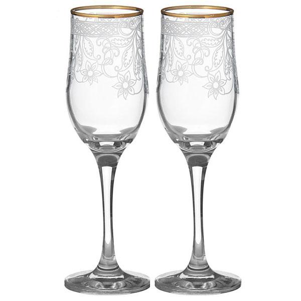 """Свадебные бокалы для шампанского """"Цветочный орнамент"""" (2 шт)"""