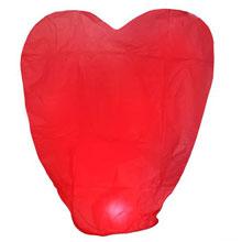 Небесный фонарик - сердце (красный)