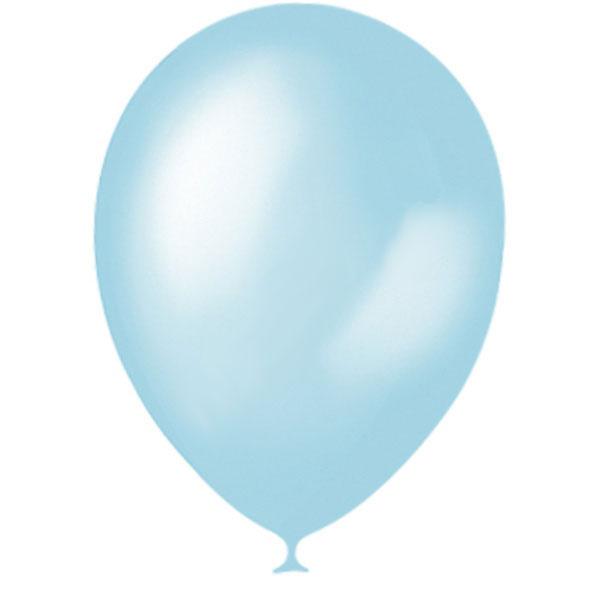 Шар круглый на свадьбу (25-30 см) (голубой нежный)