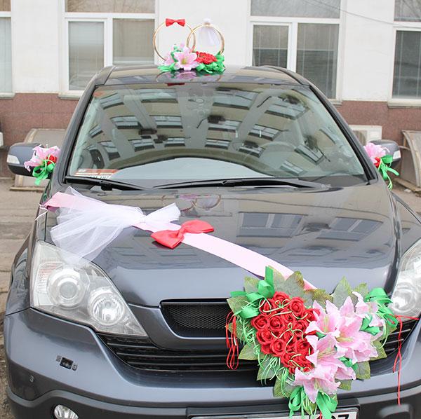"""Набор свадебных украшений на машину """"Молодожены"""""""