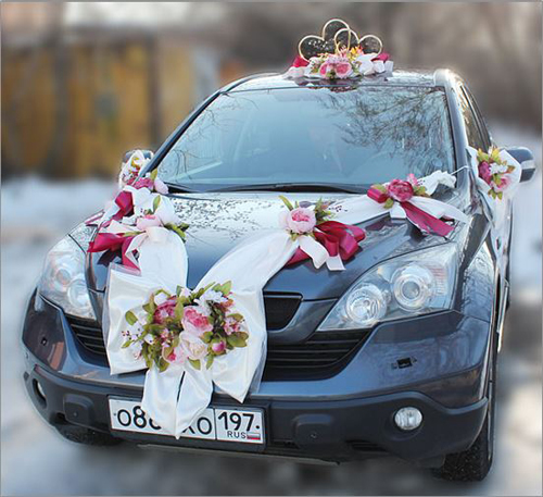 """Набор свадебных украшений на машину """"Винтажная роскошь"""""""